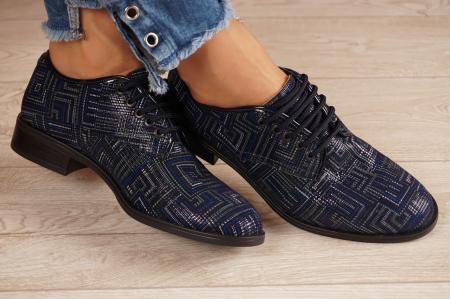 Pantofi dama din piele naturala cu imprimeu MSPD54620-1-20 [1]