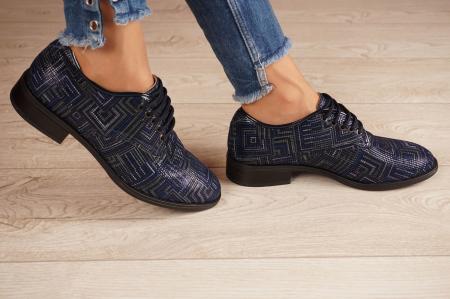 Pantofi dama din piele naturala cu imprimeu MSPD54620-1-20 [2]