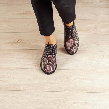 Pantofi dama din piele naturala cu imprimeu MSPD54620-202