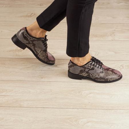 Pantofi dama din piele naturala cu imprimeu MSPD54620-200