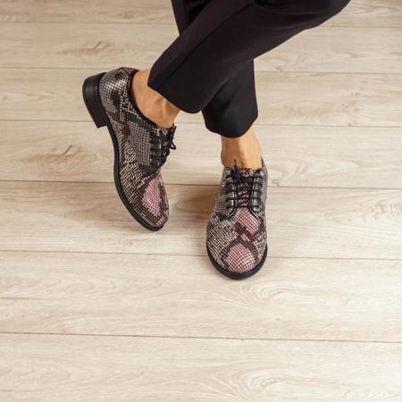 Pantofi dama din piele naturala cu imprimeu MSPD54620-201