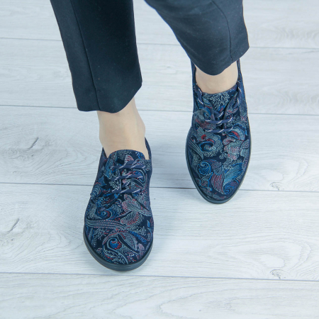 Pantofi dama din piele naturala cu imprimeu MSPD55320-1-201