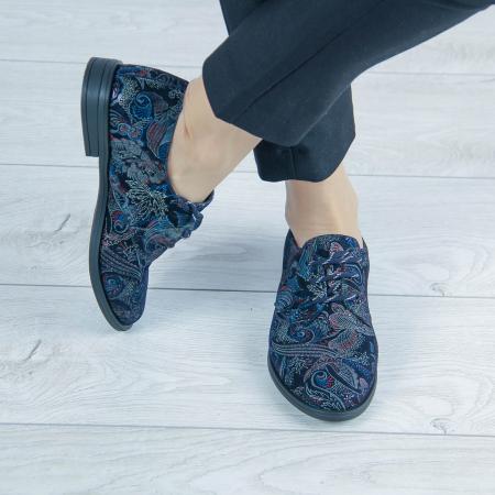 Pantofi dama din piele naturala cu imprimeu MSPD55320-1-200