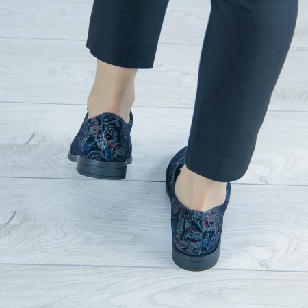 Pantofi dama din piele naturala cu imprimeu MSPD55320-1-202