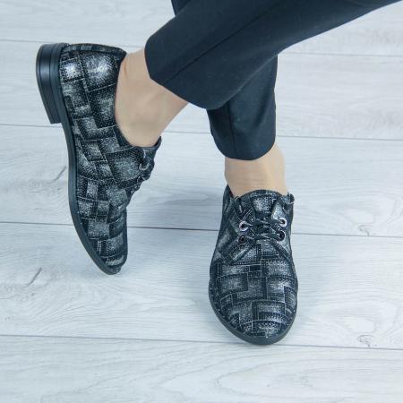Pantofi dama din piele naturala cu imprimeu MSPD55320-2-20 [0]