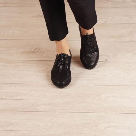 Pantofi dama din piele naturala cu imprimeu MSPD55320-3-202