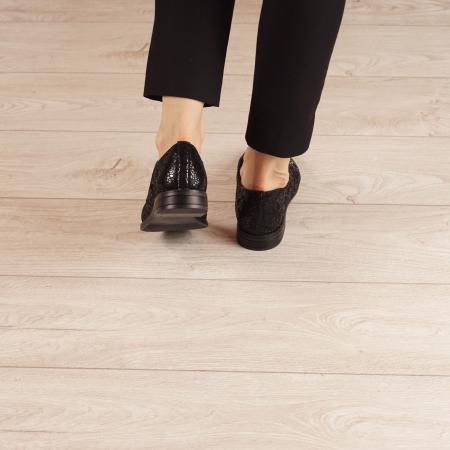 Pantofi dama din piele naturala cu imprimeu MSPD55320-3-203
