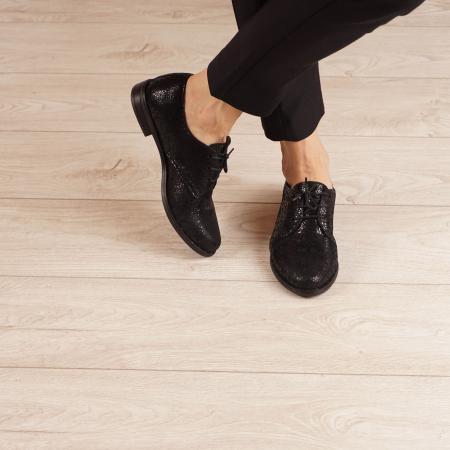 Pantofi dama din piele naturala cu imprimeu MSPD55320-3-201
