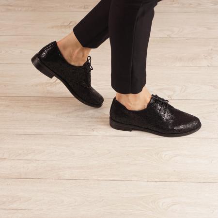 Pantofi dama din piele naturala cu imprimeu MSPD55320-3-200