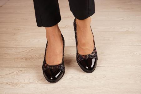 Pantofi dama din piele naturala cu imprimeu MSPD56318-1-20 [2]