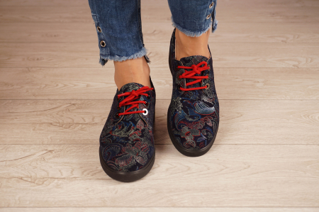 Pantofi dama din piele naturala cu imprimeu MSPD56320-1-20 [3]