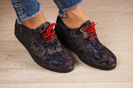 Pantofi dama din piele naturala cu imprimeu MSPD56320-1-20 [0]