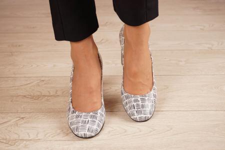 Pantofi dama din piele naturala cu imprimeu MSPD56820-2-20 [2]