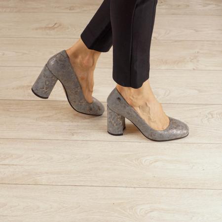 Pantofi dama din piele naturala cu imprimeu MSPD56820-20 [0]