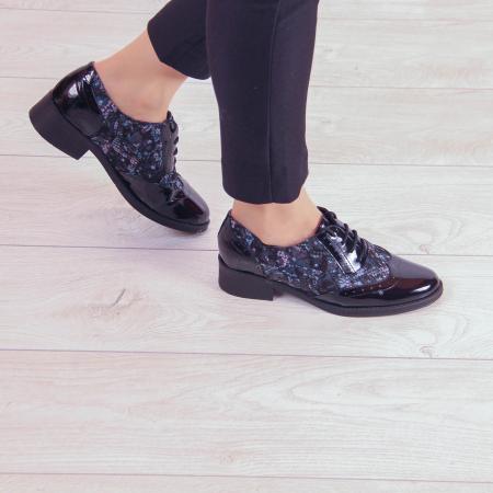 Pantofi dama din piele naturala cu imprimeu MSPD57218-2-200