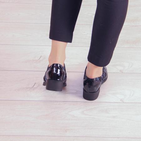 Pantofi dama din piele naturala cu imprimeu MSPD57218-2-203