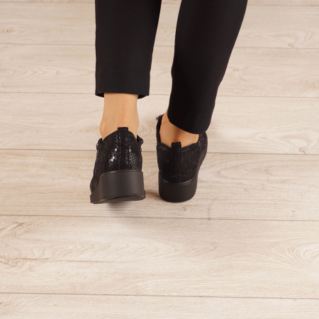 Pantofi dama din piele naturala cu imprimeu MSPD57520-203