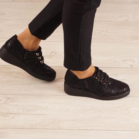 Pantofi dama din piele naturala cu imprimeu MSPD57520-200