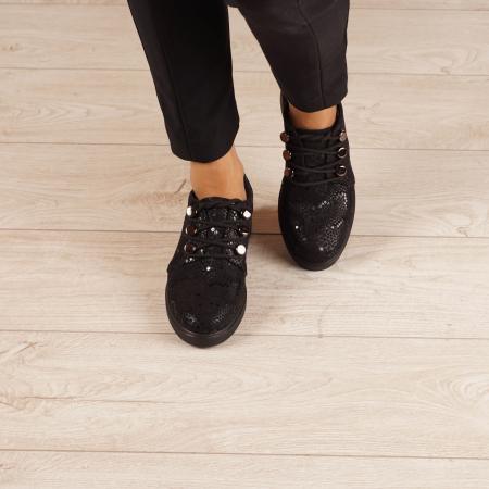 Pantofi dama din piele naturala cu imprimeu MSPD57520-202