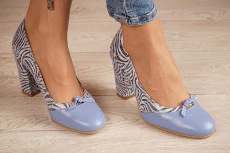 Pantofi dama din piele naturala cu imprimeu MSPD57619-20 [0]