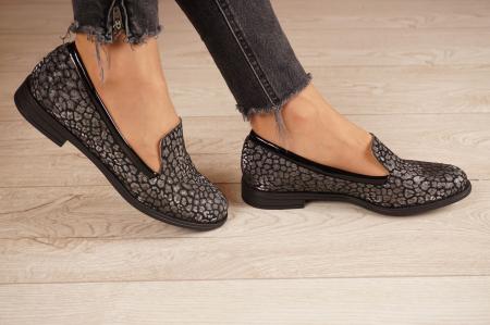 Pantofi dama din piele naturala cu imprimeu MSPD59420-20 [2]