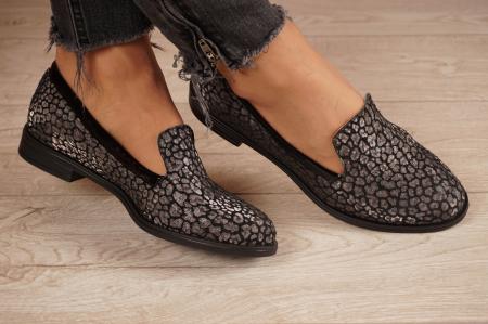 Pantofi dama din piele naturala cu imprimeu MSPD59420-20 [0]