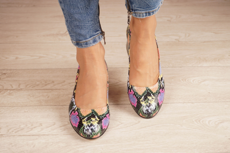 Pantofi dama din piele naturala cu imprimeu MSPD59520-20 [2]
