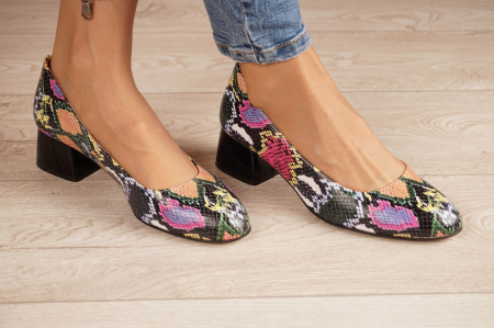 Pantofi dama din piele naturala cu imprimeu MSPD59520-20 [0]