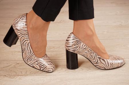 Pantofi dama din piele naturala cu imprimeu MSPD59620-20 [1]