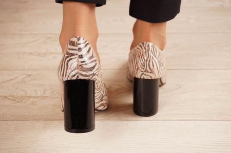 Pantofi dama din piele naturala cu imprimeu MSPD59620-20 [3]