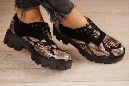 Pantofi dama din piele naturala cu imprimeu MSPD60020-20 [1]