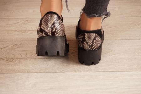 Pantofi dama din piele naturala cu imprimeu MSPD60020-20 [4]