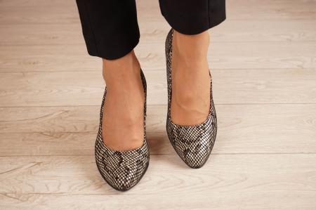 Pantofi dama din piele naturala cu imprimeu MSPD799-4-20 [2]