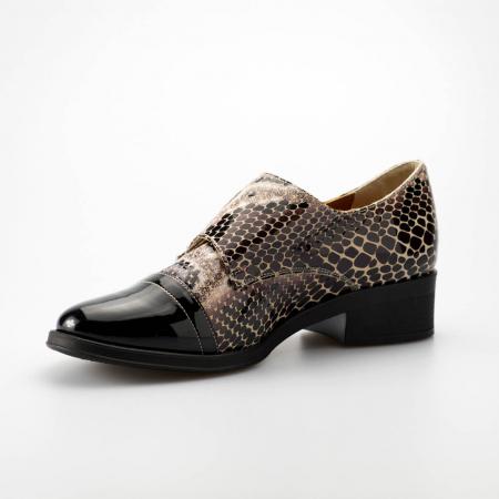 Pantofi dama din piele naturala cu imprimeu sarpe MSPD53318-19 [2]