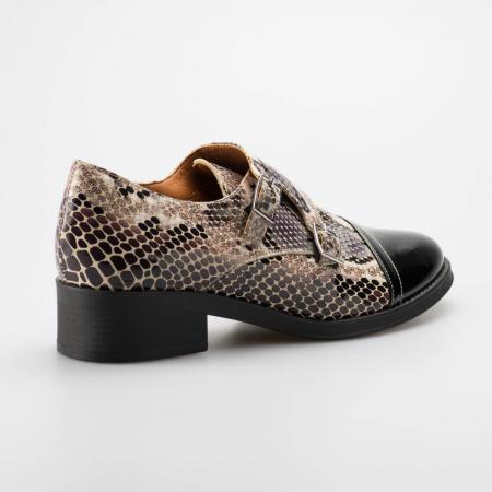Pantofi dama din piele naturala cu imprimeu sarpe MSPD53318-19 [1]