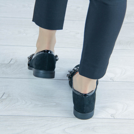 Pantofi dama din piele naturala intoarsa MSPD54920-20 [2]