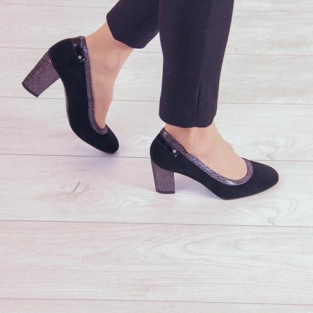 Pantofi dama din piele naturala intoarsa MSPD56719-2-20 [0]
