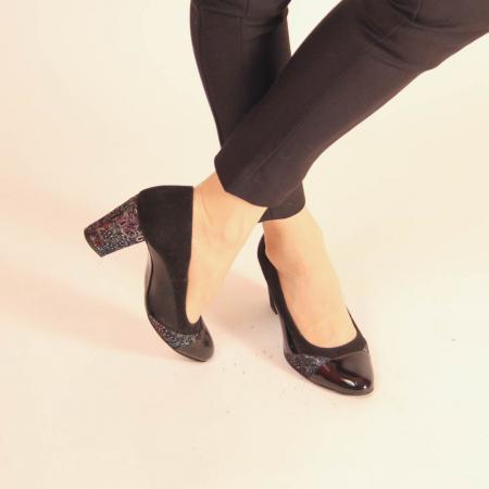 Pantofi dama din piele naturala neagra MSPD56819-20 [1]