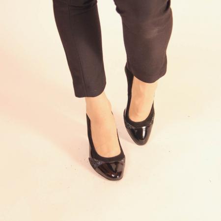 Pantofi dama din piele naturala neagra MSPD56819-20 [2]