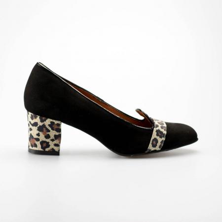 Pantofi dama din piele naturala intoarsa MSPD57219-19 [0]