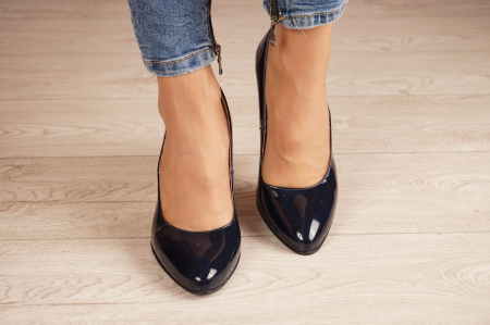 Pantofi dama din piele naturala lacuita bleumaren MSPD799-6-20 [2]