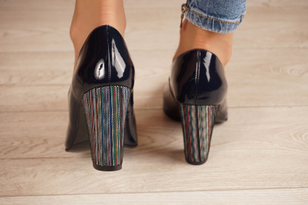Pantofi dama din piele naturala lacuita bleumaren MSPD799-6-20 [3]