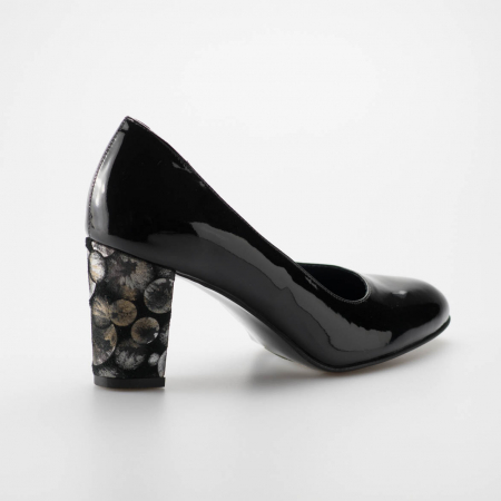Pantofi dama din piele naturala lacuita neagra MSPD52017-2-19 [1]