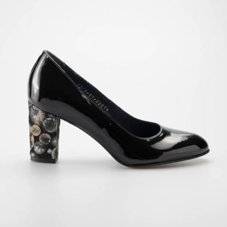 Pantofi dama din piele naturala lacuita neagra MSPD52017-2-19 [0]