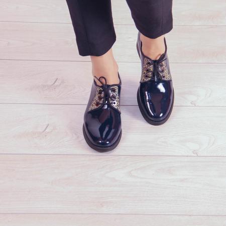 Pantofi dama din piele naturala lacuita MSPD55319-202