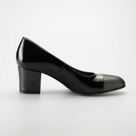 Pantofi dama din piele naturala lacuita MSPD56318-19 [0]
