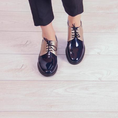 Pantofi dama din piele naturala lacuita MSPD59419-201