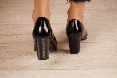 Pantofi dama din piele naturala lacuita neagra MSPD190-21 [4]