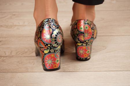Pantofi dama din piele naturala lacuita neagra MSPD52318-1-20 [3]
