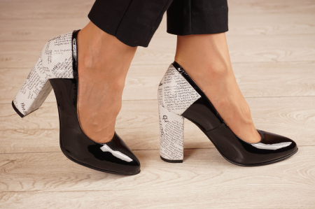 Pantofi dama din piele naturala lacuita neagra MSPD53018-1-20 [1]